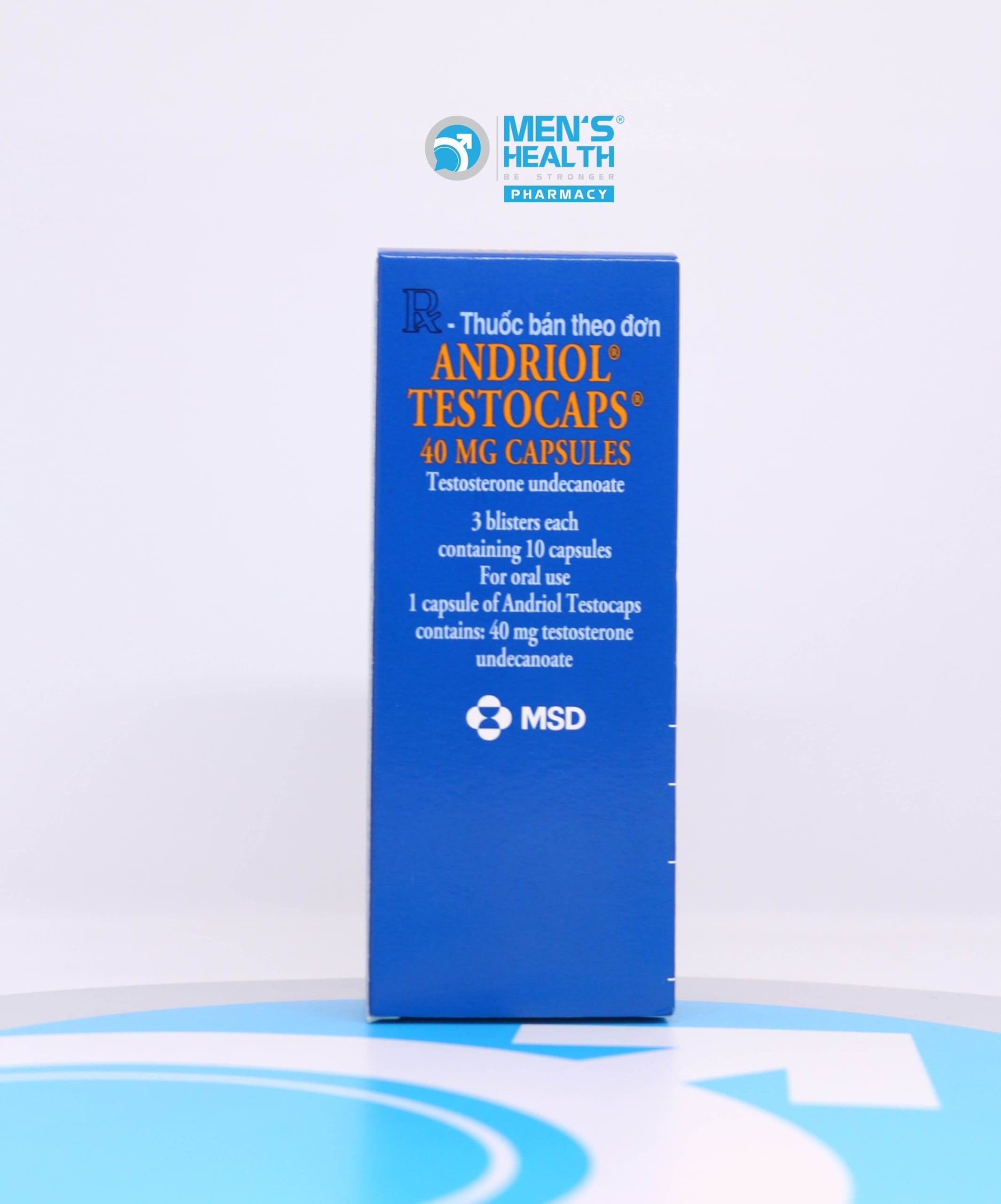 Andriol Testocaps 40mg – Liệu pháp thay thế testosterone